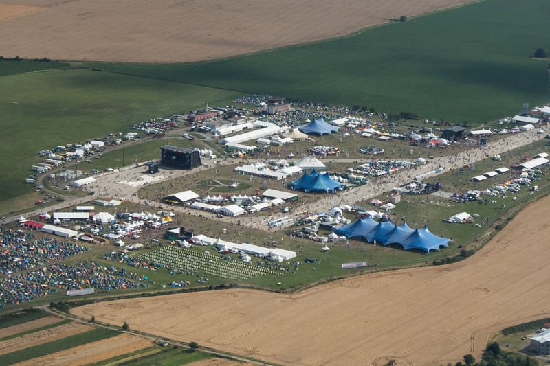 ​What the festival looked like from above