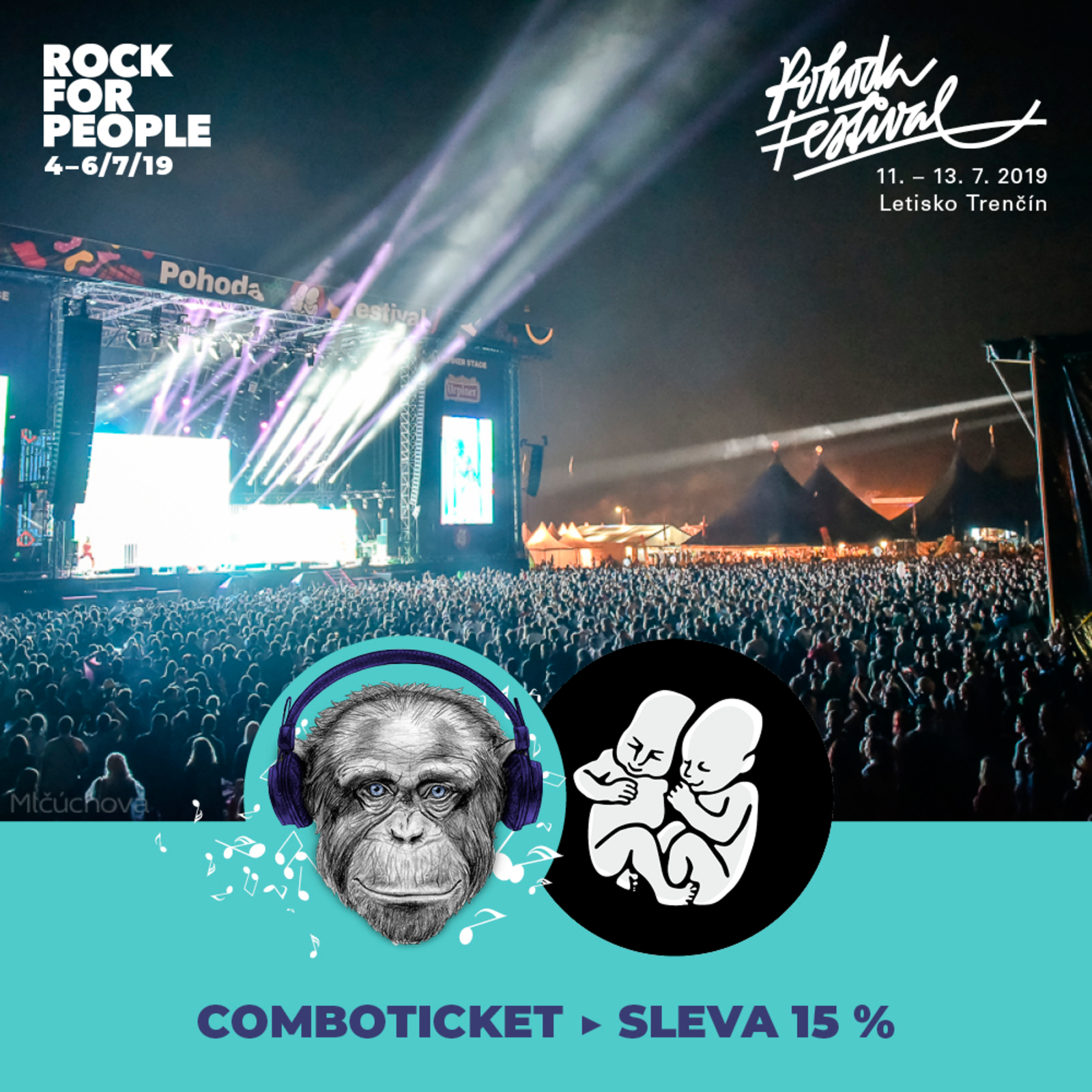 Combo tickets to Pohoda and Rock for People 2019 | Pohoda