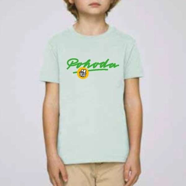 Light blue kids T-shirt Pohoda Lettering