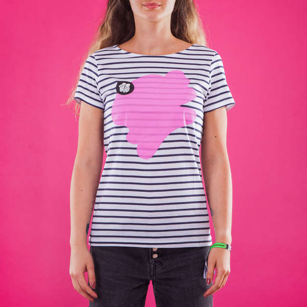 Female Striped T-Shirt_Pink
