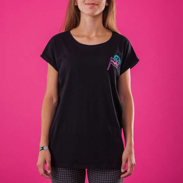 Female T-Shirt with Embroidery_Flag