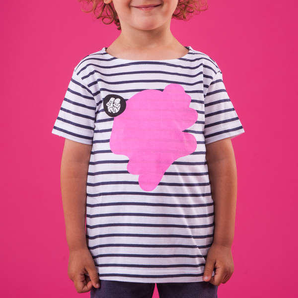 Kids Striped T-Shirt_Pink