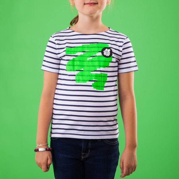 Kids Striped T-Shirt_Green