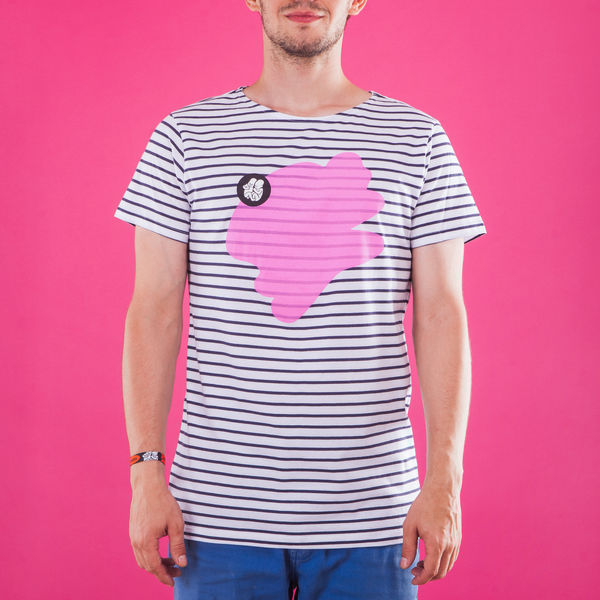 Male Striped T-Shirt_Pink
