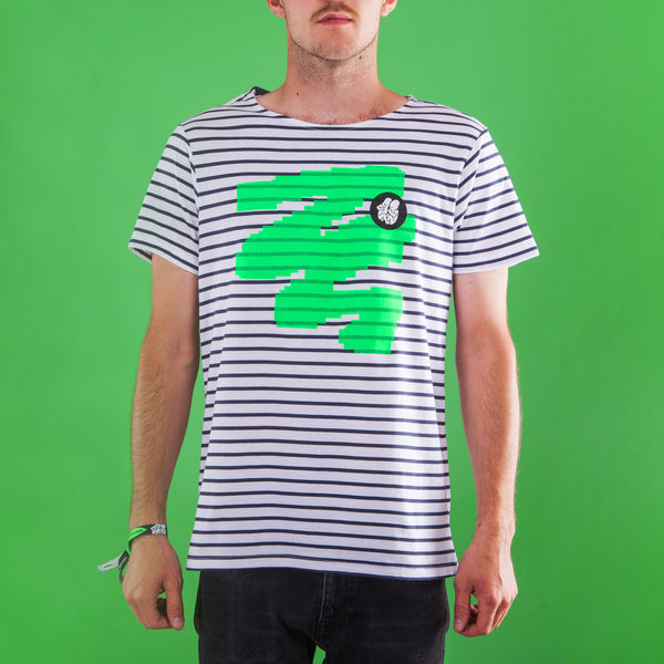 Male Striped T-Shirt_Green