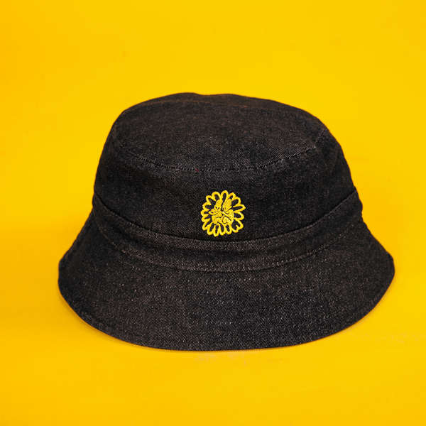 Jeans Cap with Embroidery