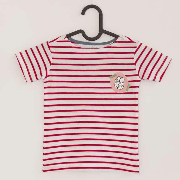 Detské tričko červené pásiky 2b2c7a9d925